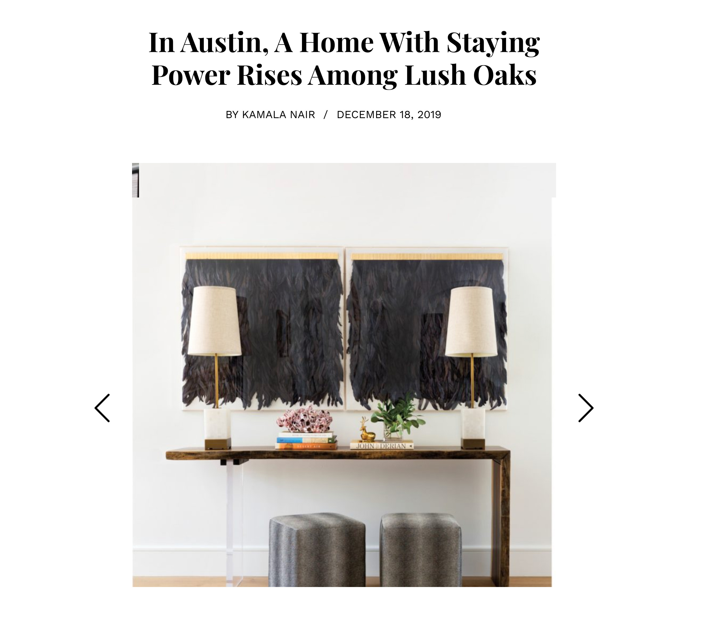 Andrea Leigh Interiors in Luxe Magazine 2019